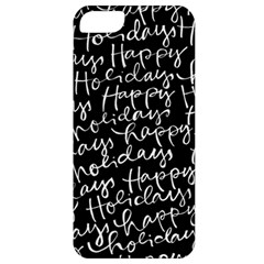Happy Holidays Apple Iphone 5 Classic Hardshell Case by Mariart