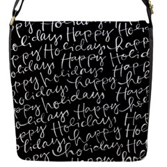 Happy Holidays Flap Messenger Bag (s) by Mariart