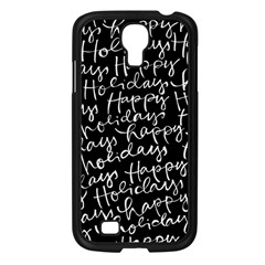 Happy Holidays Samsung Galaxy S4 I9500/ I9505 Case (black) by Mariart