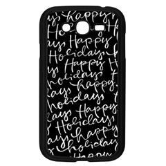 Happy Holidays Samsung Galaxy Grand Duos I9082 Case (black) by Mariart