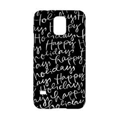 Happy Holidays Samsung Galaxy S5 Hardshell Case  by Mariart