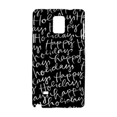 Happy Holidays Samsung Galaxy Note 4 Hardshell Case by Mariart