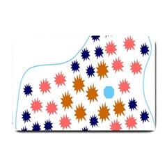 Island Top View Good Plaid Spot Star Small Doormat  by Mariart