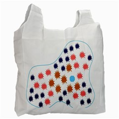 Island Top View Good Plaid Spot Star Recycle Bag (two Side)  by Mariart