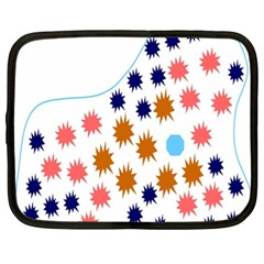 Island Top View Good Plaid Spot Star Netbook Case (xl)  by Mariart
