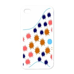 Island Top View Good Plaid Spot Star Apple Iphone 4 Case (white) by Mariart