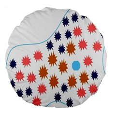 Island Top View Good Plaid Spot Star Large 18  Premium Round Cushions by Mariart