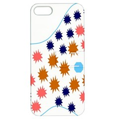 Island Top View Good Plaid Spot Star Apple Iphone 5 Hardshell Case With Stand by Mariart