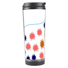 Island Top View Good Plaid Spot Star Travel Tumbler by Mariart