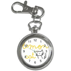Lemon Animals Cat Orange Key Chain Watches by Mariart