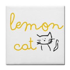Lemon Animals Cat Orange Face Towel by Mariart