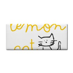 Lemon Animals Cat Orange Cosmetic Storage Cases by Mariart