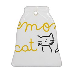 Lemon Animals Cat Orange Ornament (bell) by Mariart