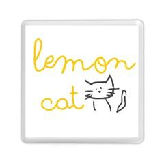 Lemon Animals Cat Orange Memory Card Reader (square)  by Mariart