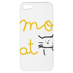 Lemon Animals Cat Orange Apple Iphone 5 Hardshell Case by Mariart