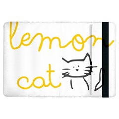 Lemon Animals Cat Orange Ipad Air Flip by Mariart