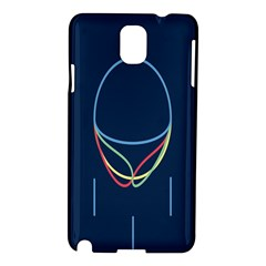 Line Light Blue Green Red Yellow Samsung Galaxy Note 3 N9005 Hardshell Case by Mariart