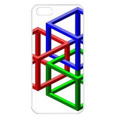 Impossible Cubes Red Green Blue Apple Iphone 5 Seamless Case (white) by Mariart