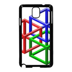 Impossible Cubes Red Green Blue Samsung Galaxy Note 3 Neo Hardshell Case (black) by Mariart