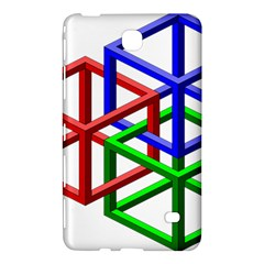Impossible Cubes Red Green Blue Samsung Galaxy Tab 4 (7 ) Hardshell Case  by Mariart