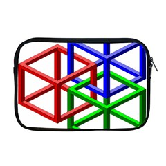 Impossible Cubes Red Green Blue Apple Macbook Pro 17  Zipper Case by Mariart