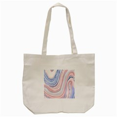 Marble Abstract Texture With Soft Pastels Colors Blue Pink Grey Tote Bag (cream) by Mariart