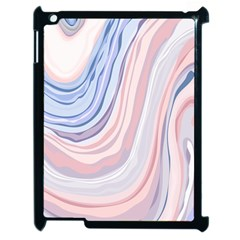 Marble Abstract Texture With Soft Pastels Colors Blue Pink Grey Apple Ipad 2 Case (black) by Mariart