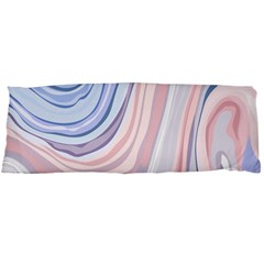 Marble Abstract Texture With Soft Pastels Colors Blue Pink Grey Body Pillow Case Dakimakura (two Sides) by Mariart