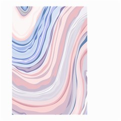 Marble Abstract Texture With Soft Pastels Colors Blue Pink Grey Small Garden Flag (two Sides) by Mariart