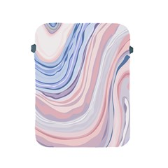 Marble Abstract Texture With Soft Pastels Colors Blue Pink Grey Apple Ipad 2/3/4 Protective Soft Cases by Mariart