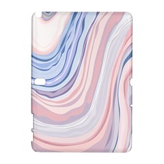 Marble Abstract Texture With Soft Pastels Colors Blue Pink Grey Galaxy Note 1 by Mariart