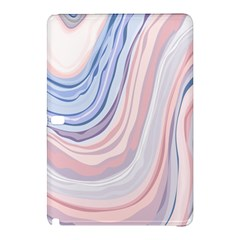 Marble Abstract Texture With Soft Pastels Colors Blue Pink Grey Samsung Galaxy Tab Pro 12 2 Hardshell Case by Mariart