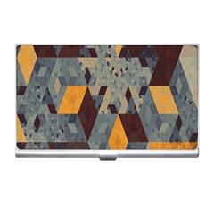 Apophysis Isometric Tessellation Orange Cube Fractal Triangle Business Card Holders by Mariart