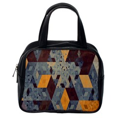 Apophysis Isometric Tessellation Orange Cube Fractal Triangle Classic Handbags (one Side) by Mariart