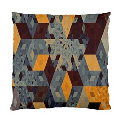 Apophysis Isometric Tessellation Orange Cube Fractal Triangle Standard Cushion Case (two Sides) by Mariart
