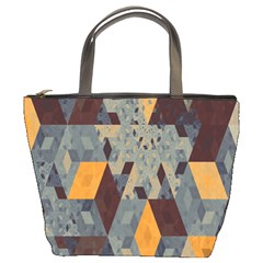 Apophysis Isometric Tessellation Orange Cube Fractal Triangle Bucket Bags by Mariart