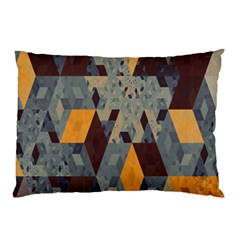 Apophysis Isometric Tessellation Orange Cube Fractal Triangle Pillow Case by Mariart