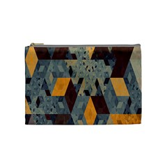 Apophysis Isometric Tessellation Orange Cube Fractal Triangle Cosmetic Bag (medium)  by Mariart