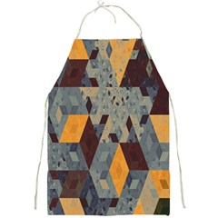 Apophysis Isometric Tessellation Orange Cube Fractal Triangle Full Print Aprons by Mariart