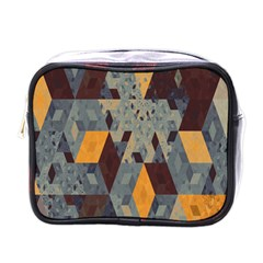 Apophysis Isometric Tessellation Orange Cube Fractal Triangle Mini Toiletries Bags by Mariart