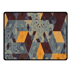 Apophysis Isometric Tessellation Orange Cube Fractal Triangle Fleece Blanket (small) by Mariart