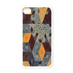 Apophysis Isometric Tessellation Orange Cube Fractal Triangle Apple Iphone 4 Case (white) by Mariart