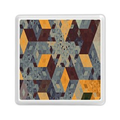 Apophysis Isometric Tessellation Orange Cube Fractal Triangle Memory Card Reader (square)  by Mariart