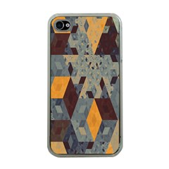 Apophysis Isometric Tessellation Orange Cube Fractal Triangle Apple Iphone 4 Case (clear) by Mariart