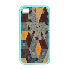 Apophysis Isometric Tessellation Orange Cube Fractal Triangle Apple Iphone 4 Case (color) by Mariart