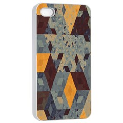 Apophysis Isometric Tessellation Orange Cube Fractal Triangle Apple Iphone 4/4s Seamless Case (white) by Mariart
