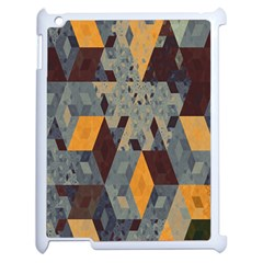 Apophysis Isometric Tessellation Orange Cube Fractal Triangle Apple Ipad 2 Case (white) by Mariart