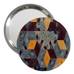 Apophysis Isometric Tessellation Orange Cube Fractal Triangle 3  Handbag Mirrors by Mariart