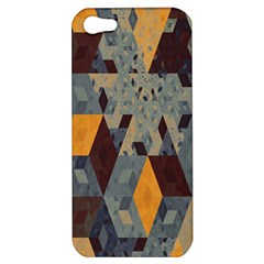 Apophysis Isometric Tessellation Orange Cube Fractal Triangle Apple Iphone 5 Hardshell Case by Mariart