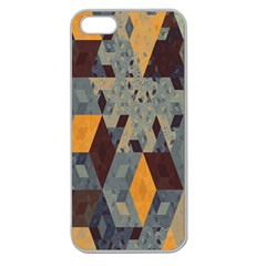 Apophysis Isometric Tessellation Orange Cube Fractal Triangle Apple Seamless Iphone 5 Case (clear) by Mariart
